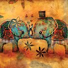 Vintage Elephants by © Cassidy (Karin) Taylor