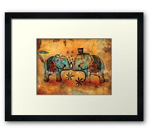 Vintage Elephants Framed Print