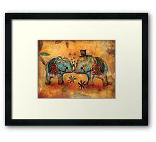 Vintage Elephants Framed Print
