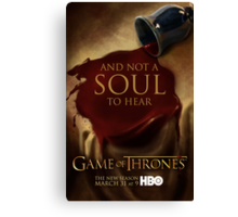 Game of Thrones Season 3 Wine poster Canvas Print