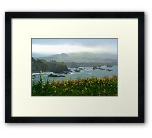 Cliffs in the Mist Framed Print