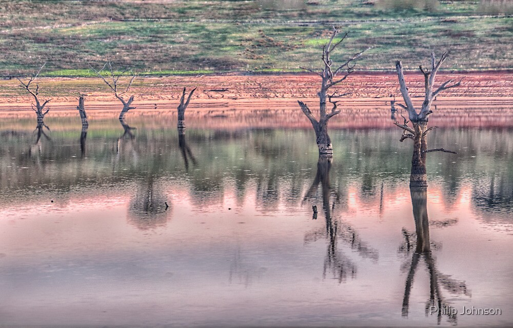 Solitude - Near Granya Victoria Lake Hume Victoria/NSW - The HDR Experience by Philip Johnson