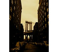 brooklyn in sepia.  Photographic Print