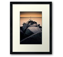 Mappleton Sea Defence  Framed Print