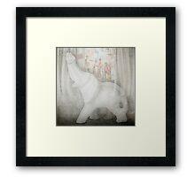 Shades of white Framed Print