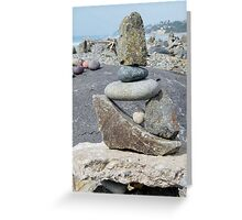Z is for Zen Shaped Rock Stack Greeting Card