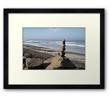 Seaside Rock Stack Tower Framed Print