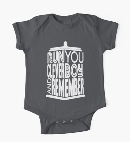 Run You Clever Boy  One Piece - Short Sleeve