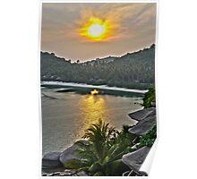 One Night in Koh Tao - Sunset from Jamahkiri Poster