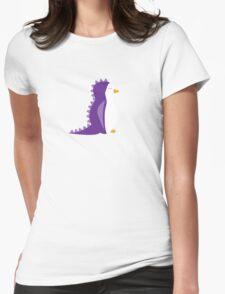 Penguin Dinosaur Womens Fitted T-Shirt