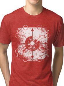 HACKER (WHITE DEVIL) Tri-blend T-Shirt