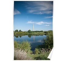 National Lift Tower Reflections Poster