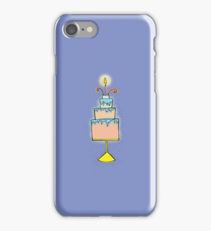 HAPPY BIRTHDAY New baby or Congratulations cute cake iPhone Case/Skin