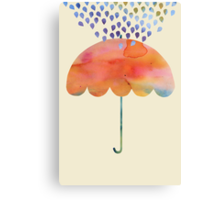 Rainbow Umbrella Canvas Print