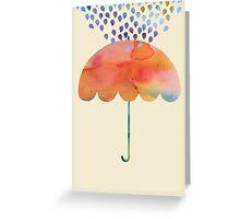 Rainbow Umbrella Greeting Card