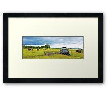 Safari - Masai Mara - Kenya Framed Print