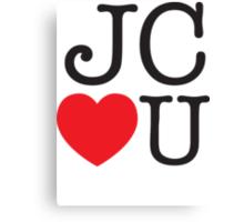 JC LOVES U Canvas Print