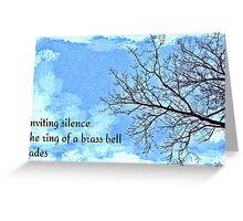 winter tree haiga Greeting Card