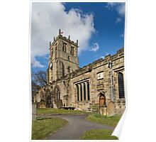 Bedale church Back view Poster