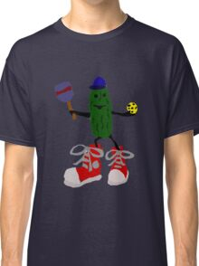 Funny Cool Pickleball Pickle with Red Sneakers Classic T-Shirt