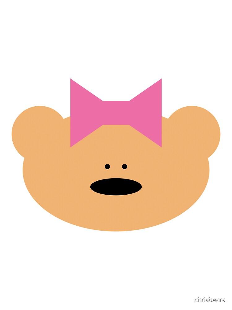 Teddy bear girl with hair ribbon by chrisbears