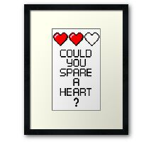 Could you spare a heart? Framed Print