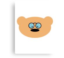 Teddy Bear with glasses Canvas Print
