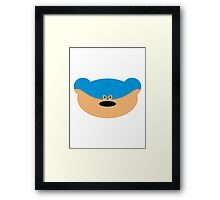 Teddy Bear Superhero Framed Print