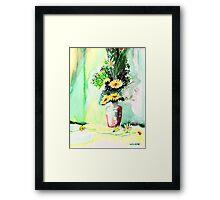 Yellow Flowers 1 Framed Print
