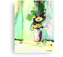 Yellow Flowers 1 Canvas Print