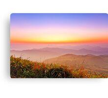 Sunrise at mountains in Hong Kong Canvas Print