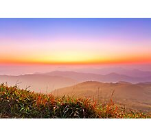 Sunrise at mountains in Hong Kong Photographic Print