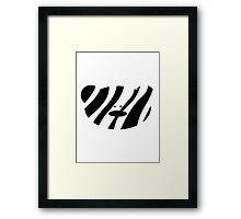 Teddy Bear Zebra Framed Print