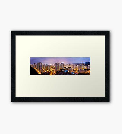 Hong Kong at night Framed Print