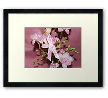 Pink for Breast Cancer Framed Print