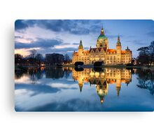 City Hall of Hannover in the evening Canvas Print