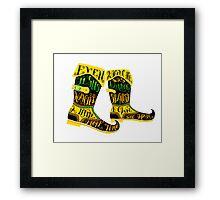 Walking Spanish Framed Print