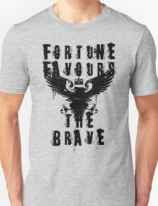 Fortune Favours the Brave Vintage Grunge Style T-Shirt