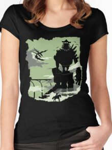 Silhouette of the Colossus Women's Fitted Scoop T-Shirt