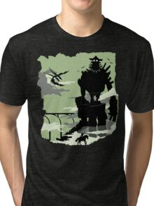 Silhouette of the Colossus Tri-blend T-Shirt