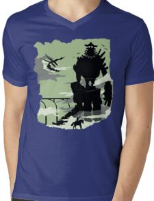 Silhouette of the Colossus Mens V-Neck T-Shirt