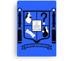 Doctor Who Fan Crest Canvas Print