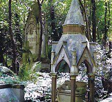 Highgate Cemetery Scene 1 by himmstudios