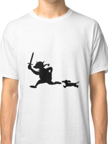 Viking attack with dachshunds Classic T-Shirt