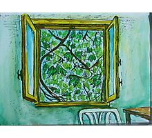 Watercolor Sketch - The Window to Summer. Photographic Print