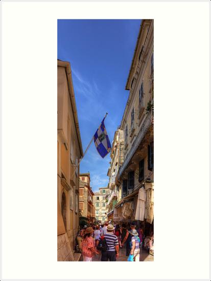 Shopping in Corfu Town by Tom Gomez