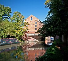 Blisworth Mill Grand Union Canal by Ralph Goldsmith