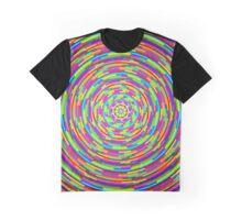 Trippy Circular Pattern Graphic T-Shirt