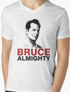 Bruce Willis Mens V-Neck T-Shirt