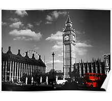 Big Ben and Routemaster Bus Poster